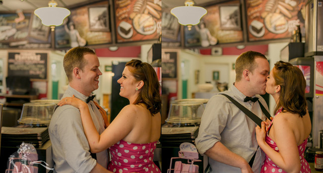 Lindsay & Matt's Super Fun Engagement Photo Session In Their Cafe, Morrison Cafe
