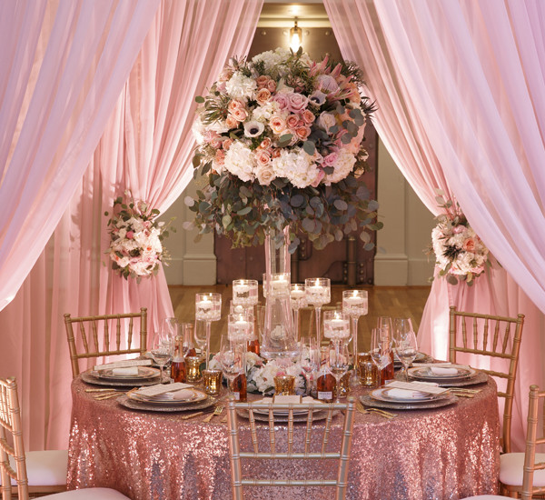 Rose Quartz Styled Shoot for Real Weddings Magazine