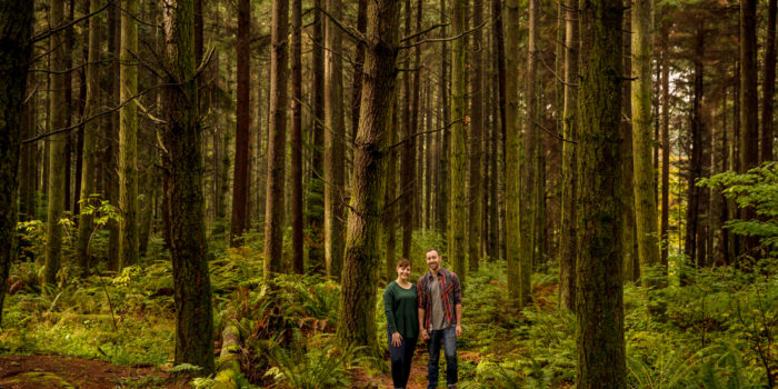 Liz & Alex's Engagement Photos in the Forest